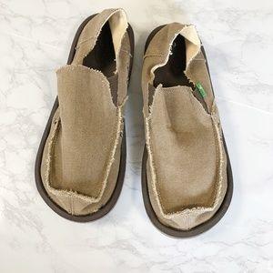 Sanuk Tan Hemp Vagabond Moccasin Slip On Shoes 11